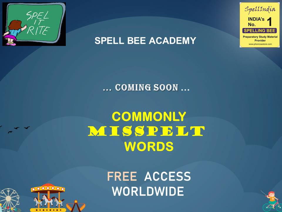 SPELLING - COMMONLY MISSPELT WORDS