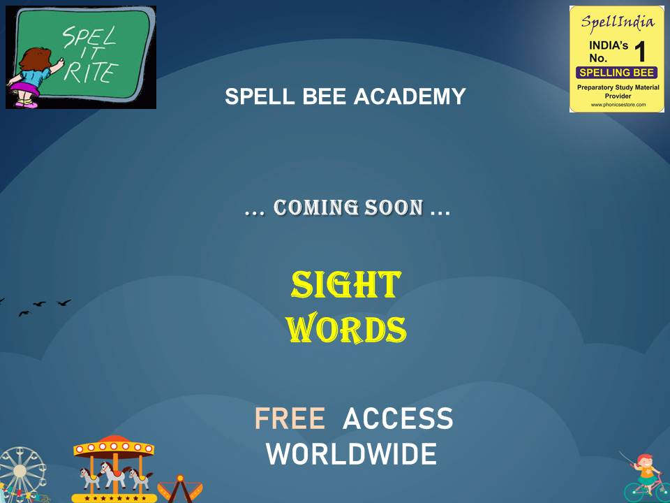 SPELLING - SIGHT WORDS