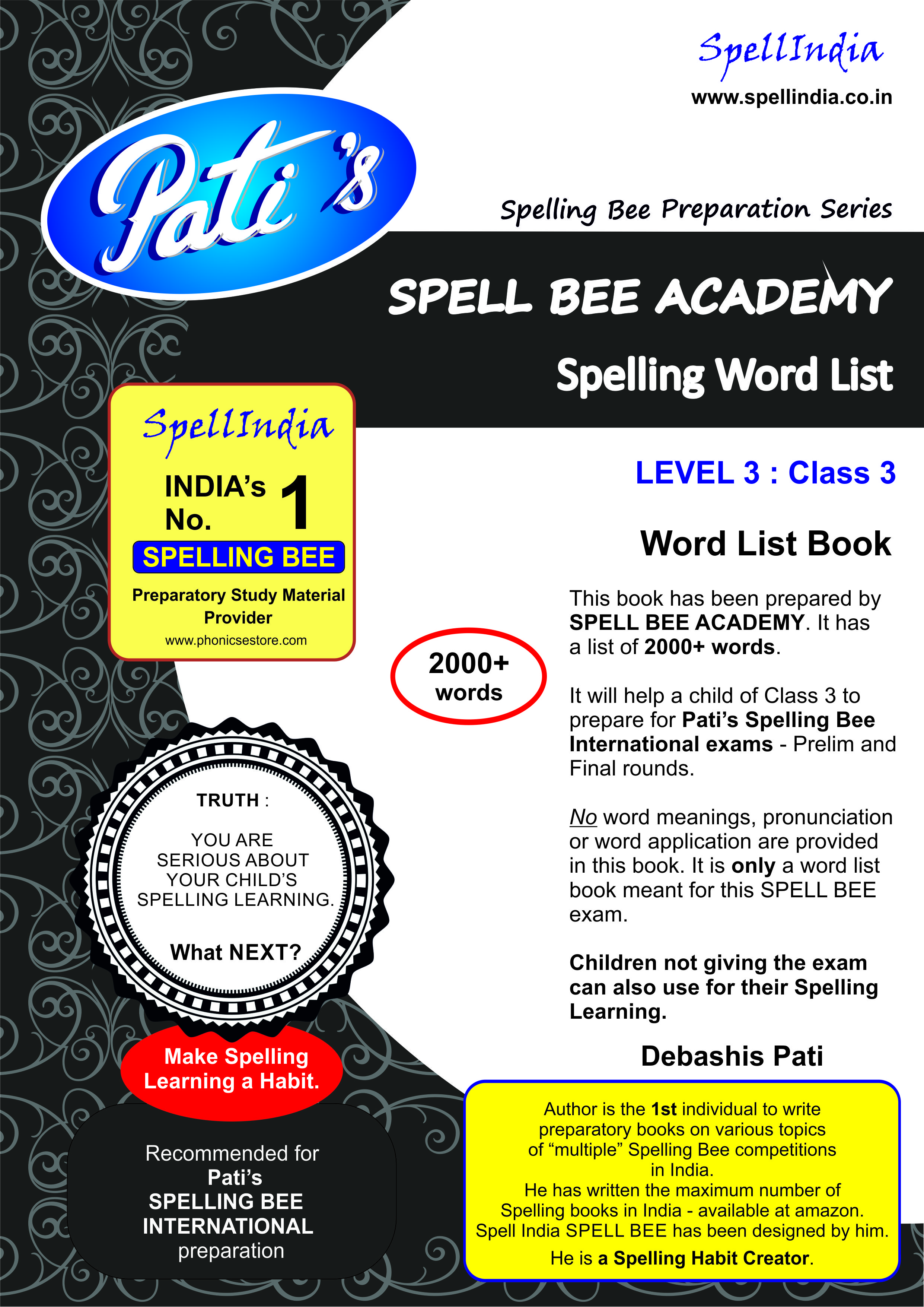 SPELLING WORD LIST FOR CLASS 3