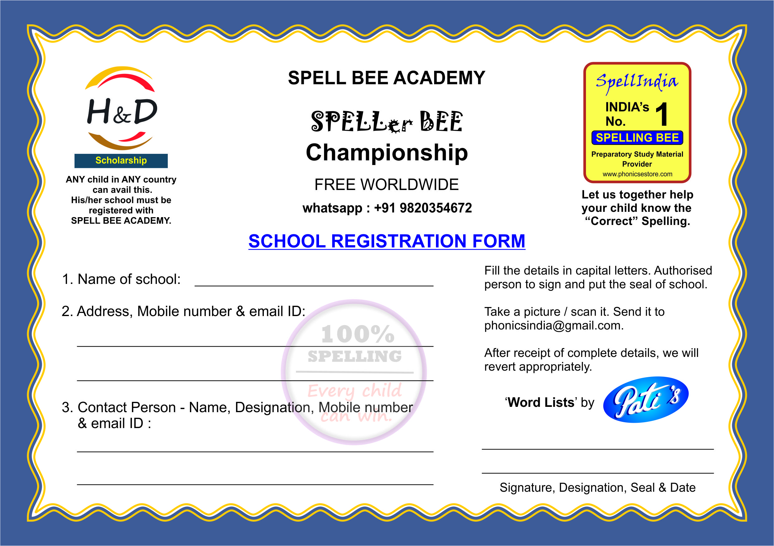 SPELL BEE SPELLING WORDS COMPETIITION EXAM