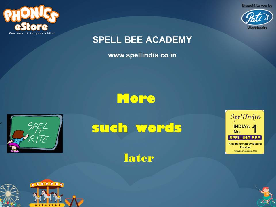 Spell Bee ... Spelling Words ... Words with Double Letters