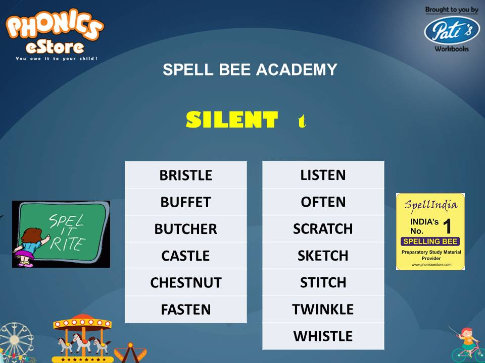 Spell Bee ... Spelling Words ... Words with Silent Letters