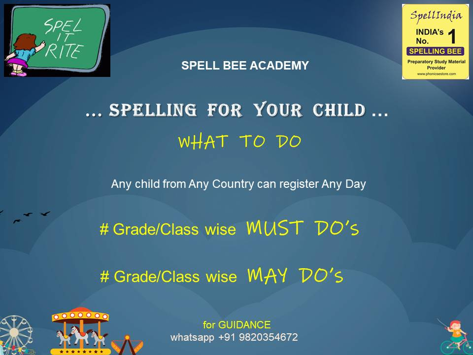 SPELLING - SPELL BEE for grade class